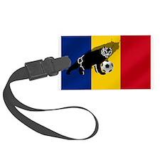 Romanian Football Flag Luggage Tag