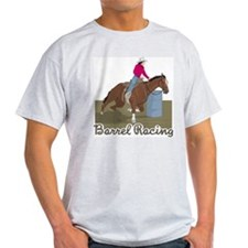 Barrel Racing 2 Ash Grey T-Shirt