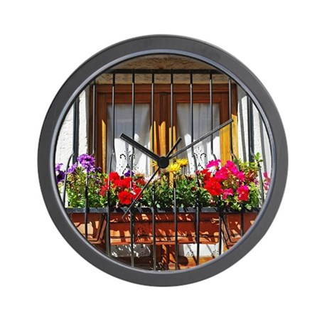 Lisbon balcony Wall Clock