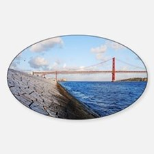 April 25th bridge Sticker (Oval)