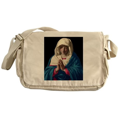Virgin Mary in Prayer Messenger Bag