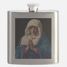 Virgin Mary in Prayer Flask