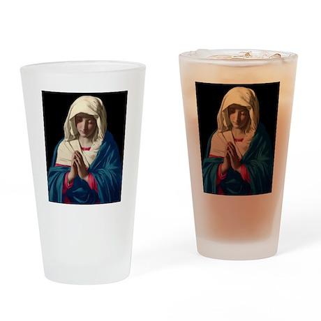 Virgin Mary in Prayer Drinking Glass