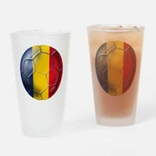 Romania Soccer Ball Drinking Glass