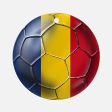 Romania Soccer Ball Ornament (Round)