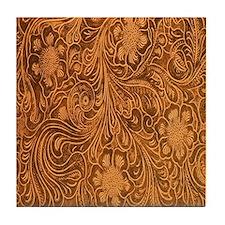 Wild West Texture 2 Tile Coaster