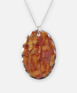 Bacon Background Necklace