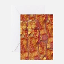 Bacon Background Greeting Card