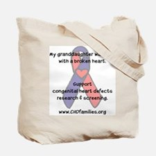 """My granddaughter..."" Tote Bag"