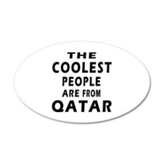The Coolest Qatar Designs 20x12 Oval Wall Decal