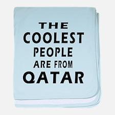 The Coolest Qatar Designs baby blanket