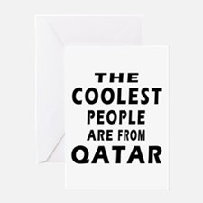 The Coolest Qatar Designs Greeting Card