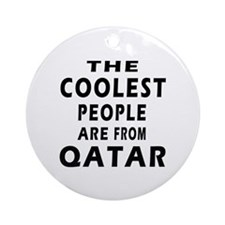 The Coolest Qatar Designs Ornament (Round)
