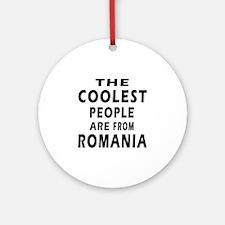 The Coolest Romania Designs Ornament (Round)