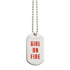 Girl On Fire Dog Tags