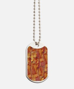 Bacon Background Dog Tags