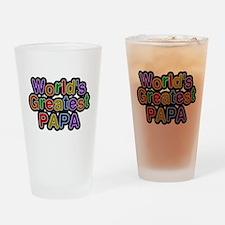 Worlds Greatest Papa Drinking Glass