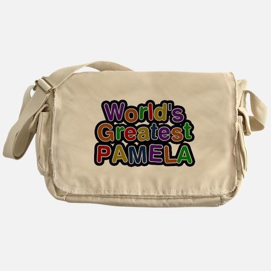Worlds Greatest Pamela Messenger Bag