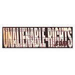 Unalienable-Rights Bumper Sticker