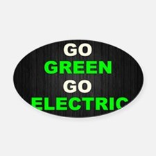 GREEN Oval Car Magnet