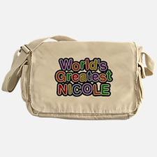 Worlds Greatest Nicole Messenger Bag