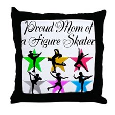SKATING QUEEN MOM Throw Pillow