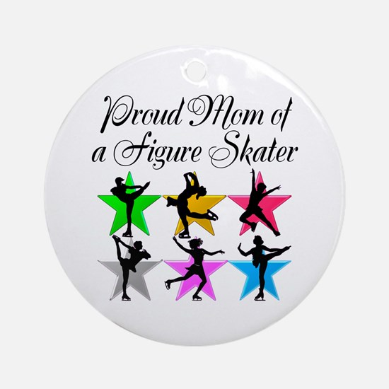 SKATING QUEEN MOM Ornament (Round)