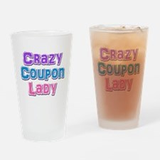 Crazy Coupon Lady Drinking Glass