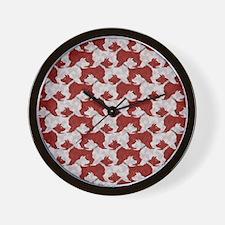 Barking Bulldogs Wall Clock