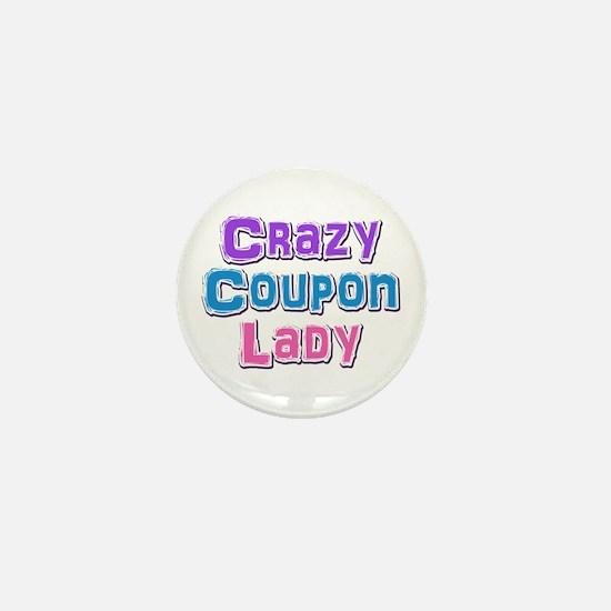 Crazy Coupon Lady Mini Button