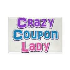 Crazy Coupon Lady Rectangle Magnet