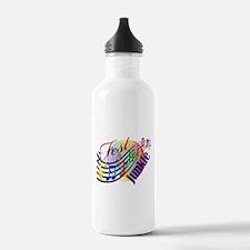 Cute Music festival Water Bottle