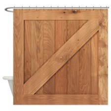Wild West Barn Door 1 Shower Curtain