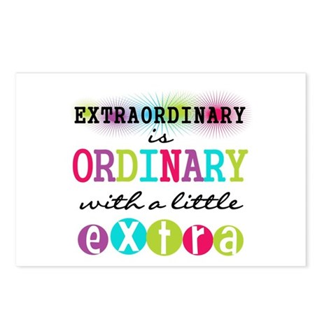 Extraordinary Postcards (Package of 8)