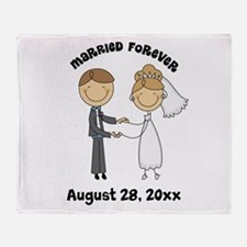 Personalized Bride and Groom Throw Blanket
