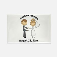 Personalized Bride and Groom Rectangle Magnet