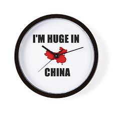 I'm Huge In China Wall Clock