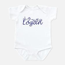 L Names Infant Bodysuit