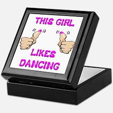This Girl Likes Dancing Keepsake Box