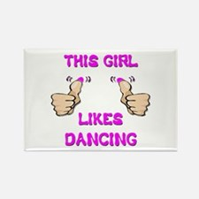 This Girl Likes Dancing Rectangle Magnet