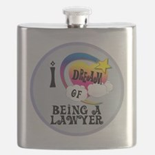 I Dream of Being A Lawyer Flask