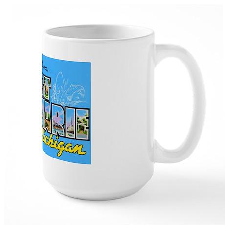 Sault Ste Marie Michigan Large Mug
