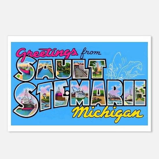 Sault Ste Marie Michigan Postcards (Package of 8)