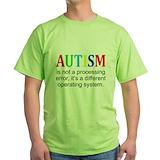 Autism its not a processing error Green T-Shirt
