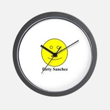 Dirty Sanchez Wall Clock