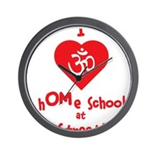 homeschool yoga Wall Clock