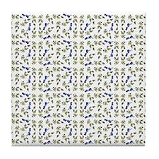 Blueberries On Vine Repeat Pattern Tile Coaster