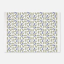 Blueberries On Vine Repeat Pattern 5'x7'Area Rug