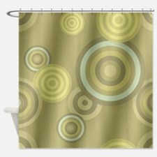 Golden Retro Shower Curtain