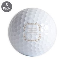 You are kind, smart, important Golf Ball
